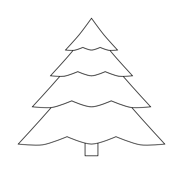 Evergreen tree clipart black and white transparent library Evergreen Tree Outline Clip Art at Clker.com - vector clip art ... transparent library