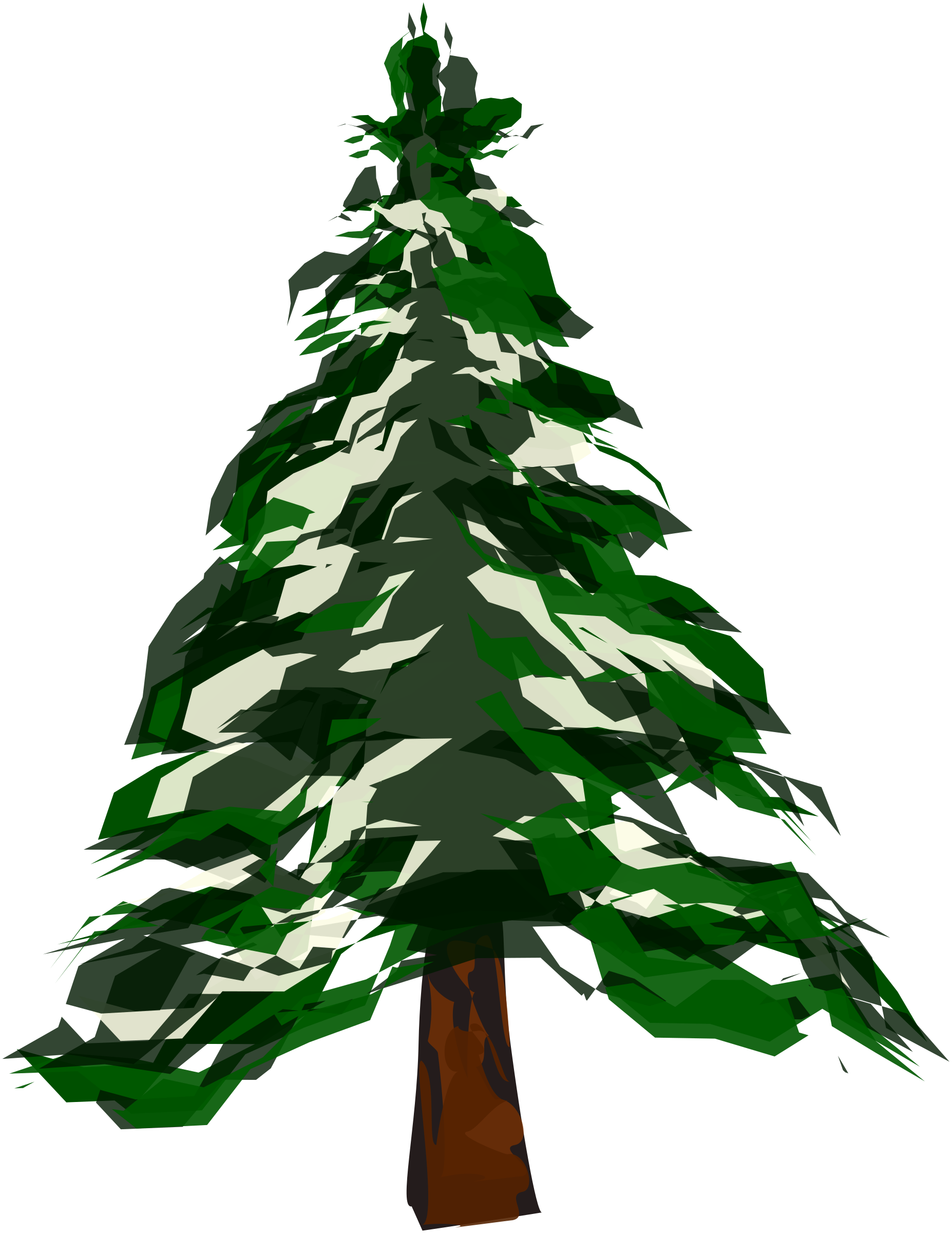 Evergreen tree with snow clipart image free download Clipart - Winter Tree 1 image free download