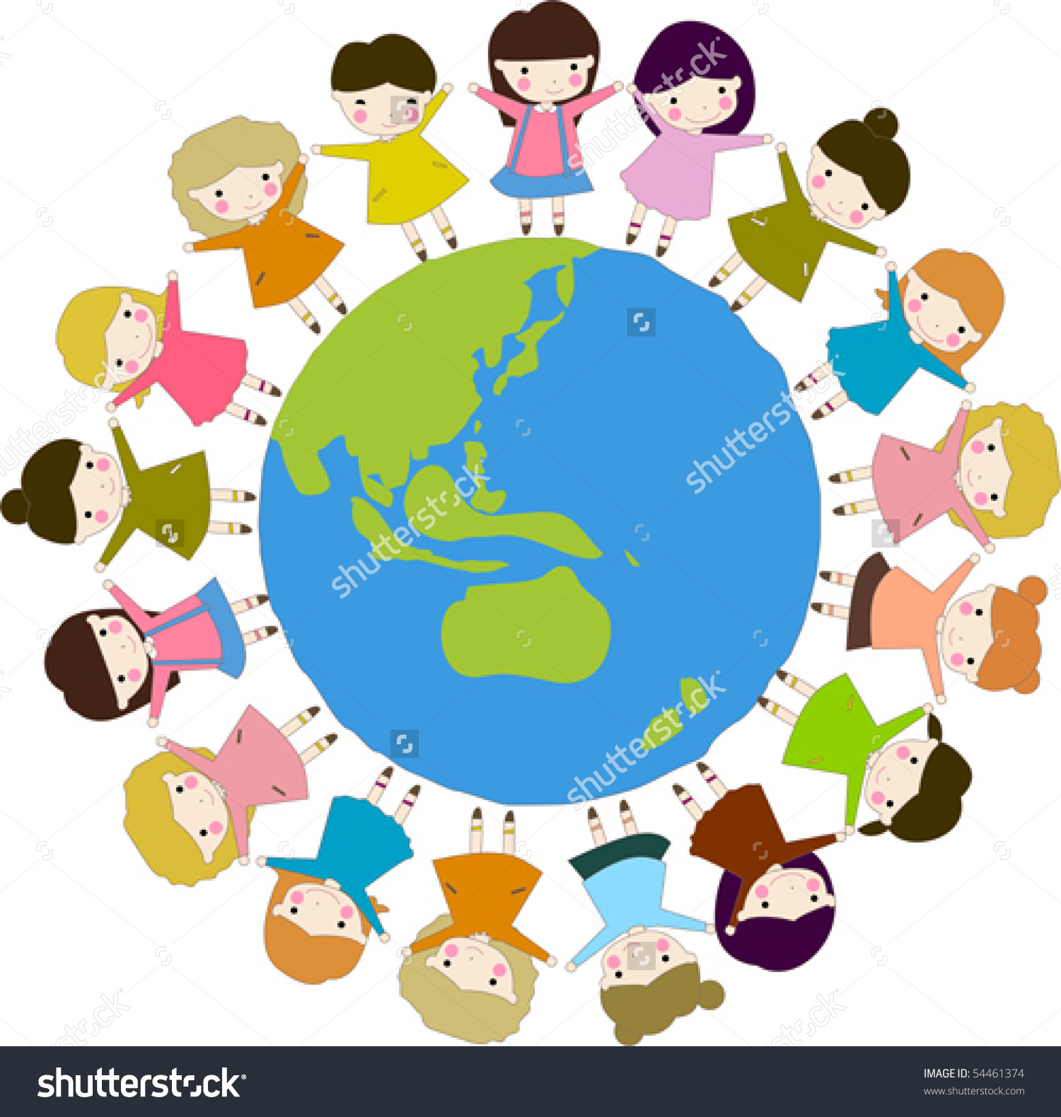 Kids holding hands around the world clipart clipart library Around The World Clipart | Free download best Around The World ... clipart library