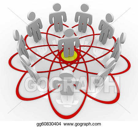 Everyone s the same except for one person clipart clip freeuse library Stock Illustration - Venn diagram many people one person in center ... clip freeuse library