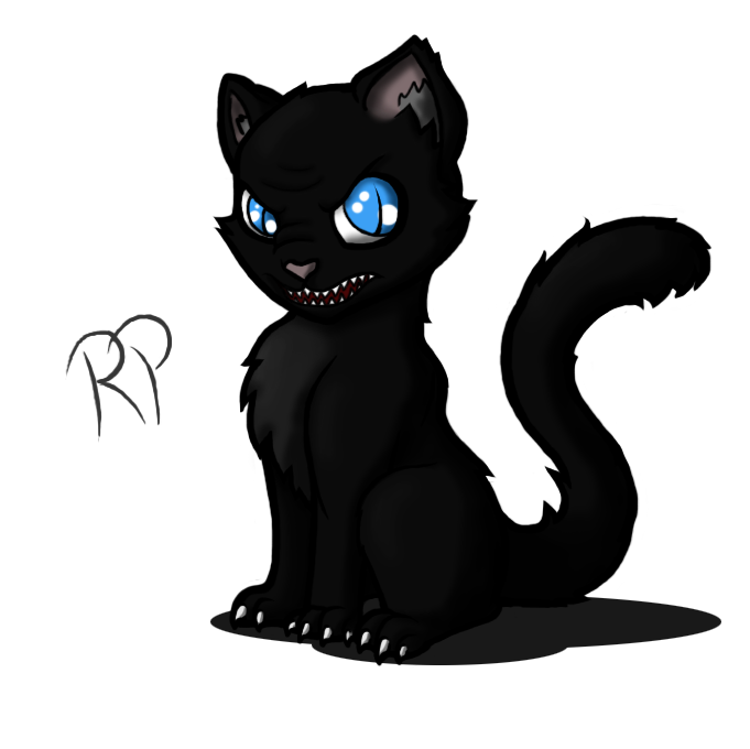 collection of black. Evil cat clipart
