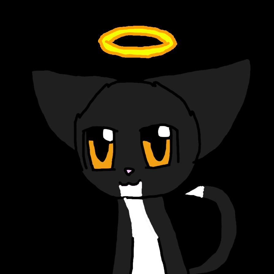 Evil black cat clipart svg stock My cute good/evil cat by catanimator on DeviantArt svg stock