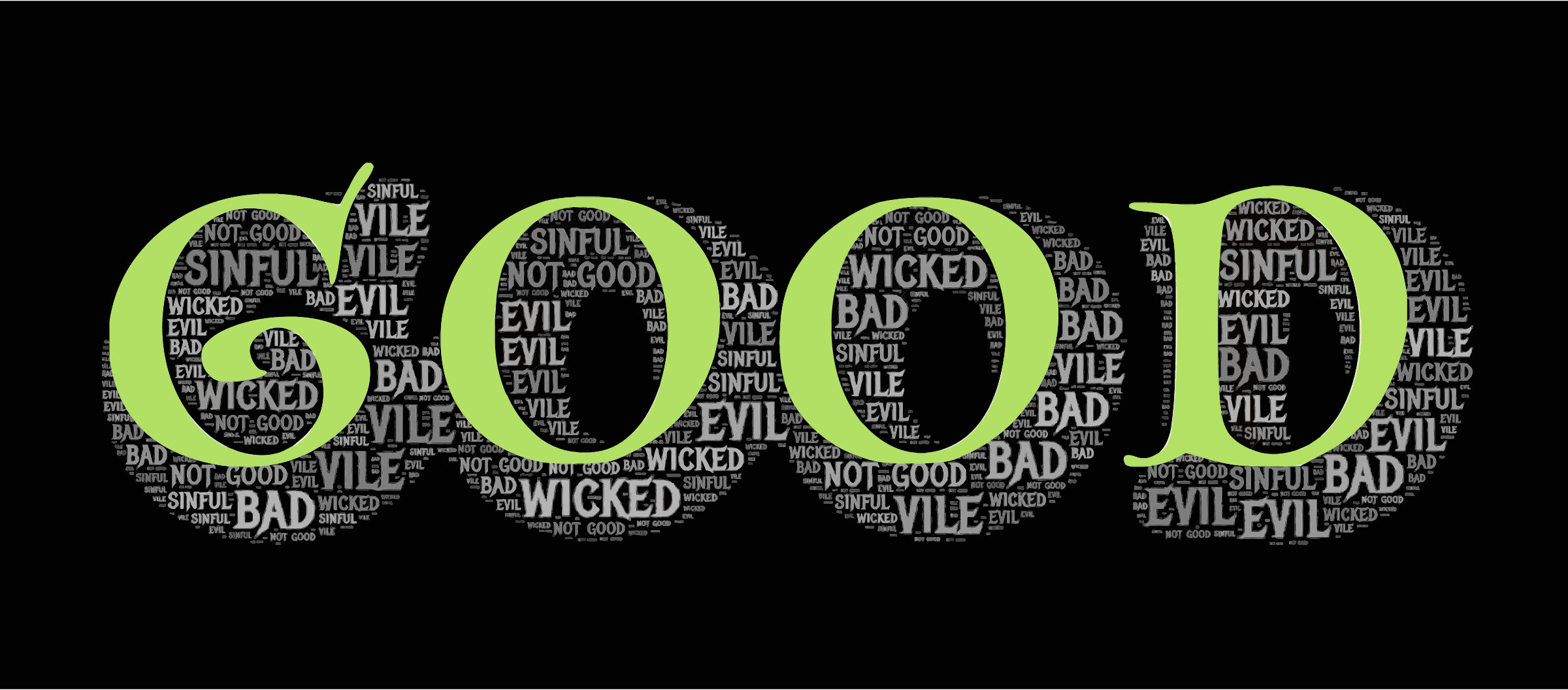 Clipart - Good Evil Typography clipart free library