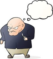 Evil man clipart jpg transparent library Cartoon Evil Man With Thought Bubble stock vectors - Clipart.me jpg transparent library