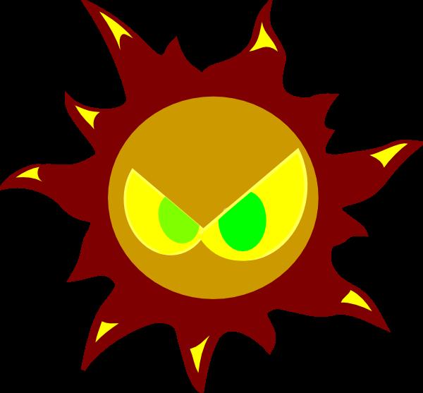 Free cliparts download clip. Evil sun clipart