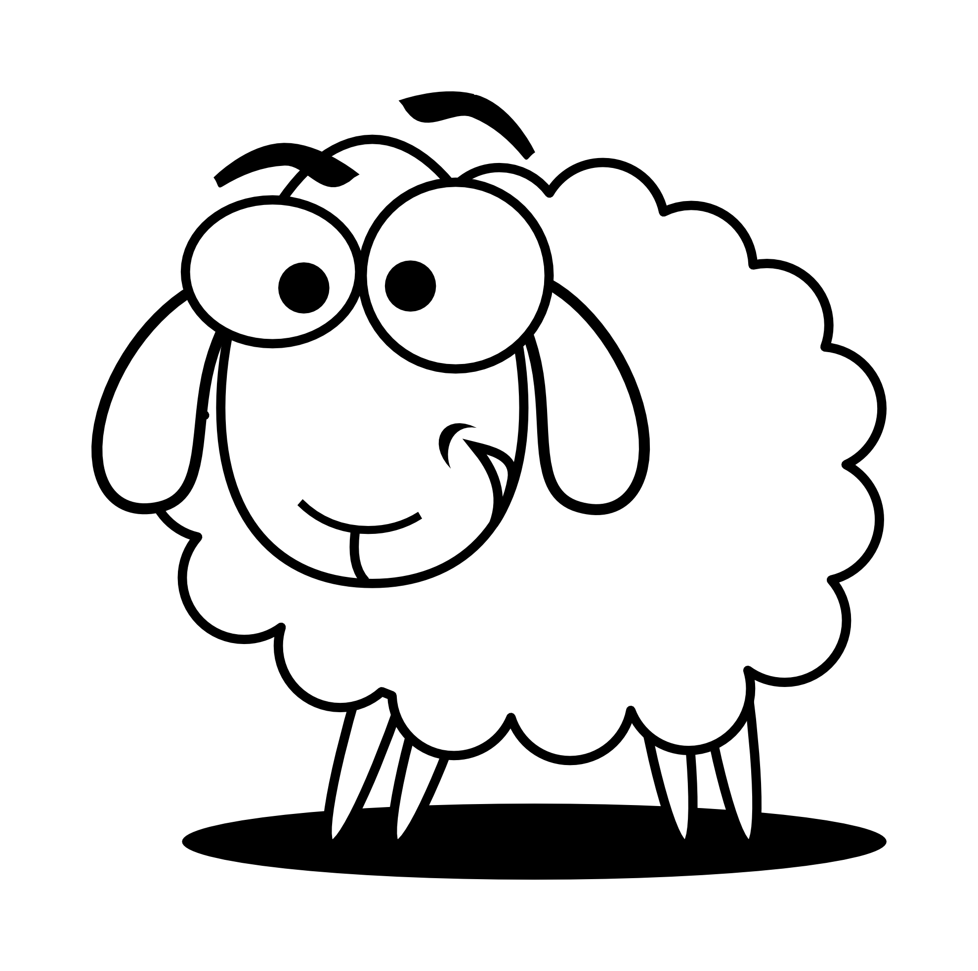 Ewe cartoon clipart black and white clip Free Sheep Image, Download Free Clip Art, Free Clip Art on Clipart ... clip