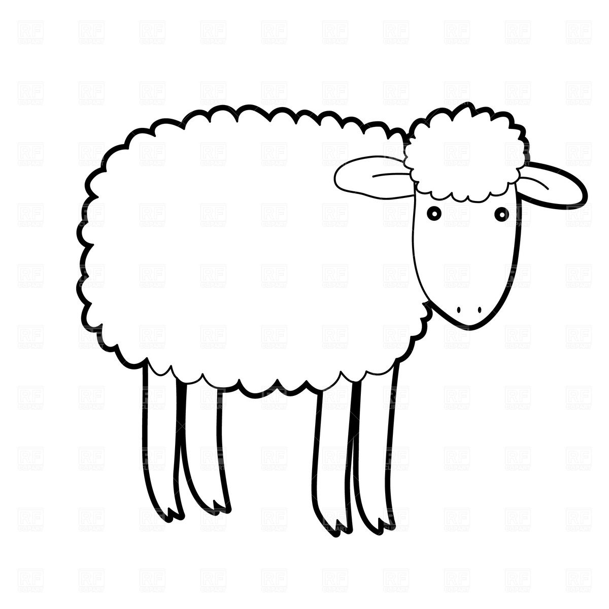 Ewe cartoon clipart black and white picture free library Lamb Clipart Black And | Tattoos...... | Cartoon lamb, Free clipart ... picture free library