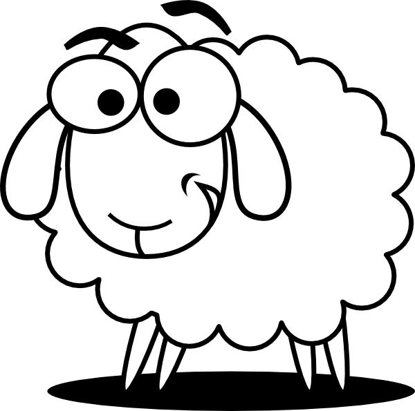 Ewe cartoon clipart black and white picture library library Free Sheep Cartoon Clipart, Download Free Clip Art, Free Clip Art on ... picture library library