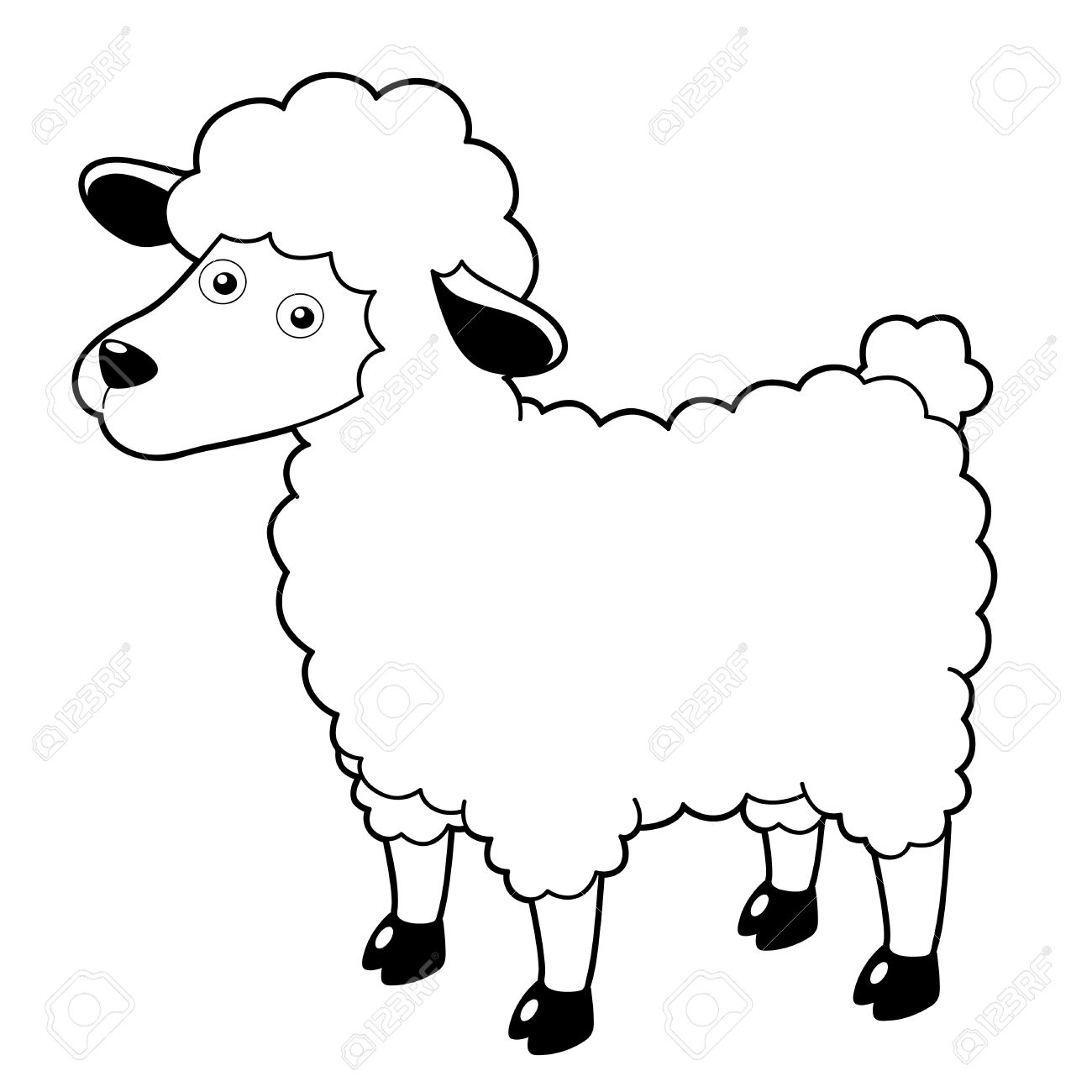 Ewe cartoon clipart black and white vector Sheep black and white black and white sheep picturespilation and ... vector