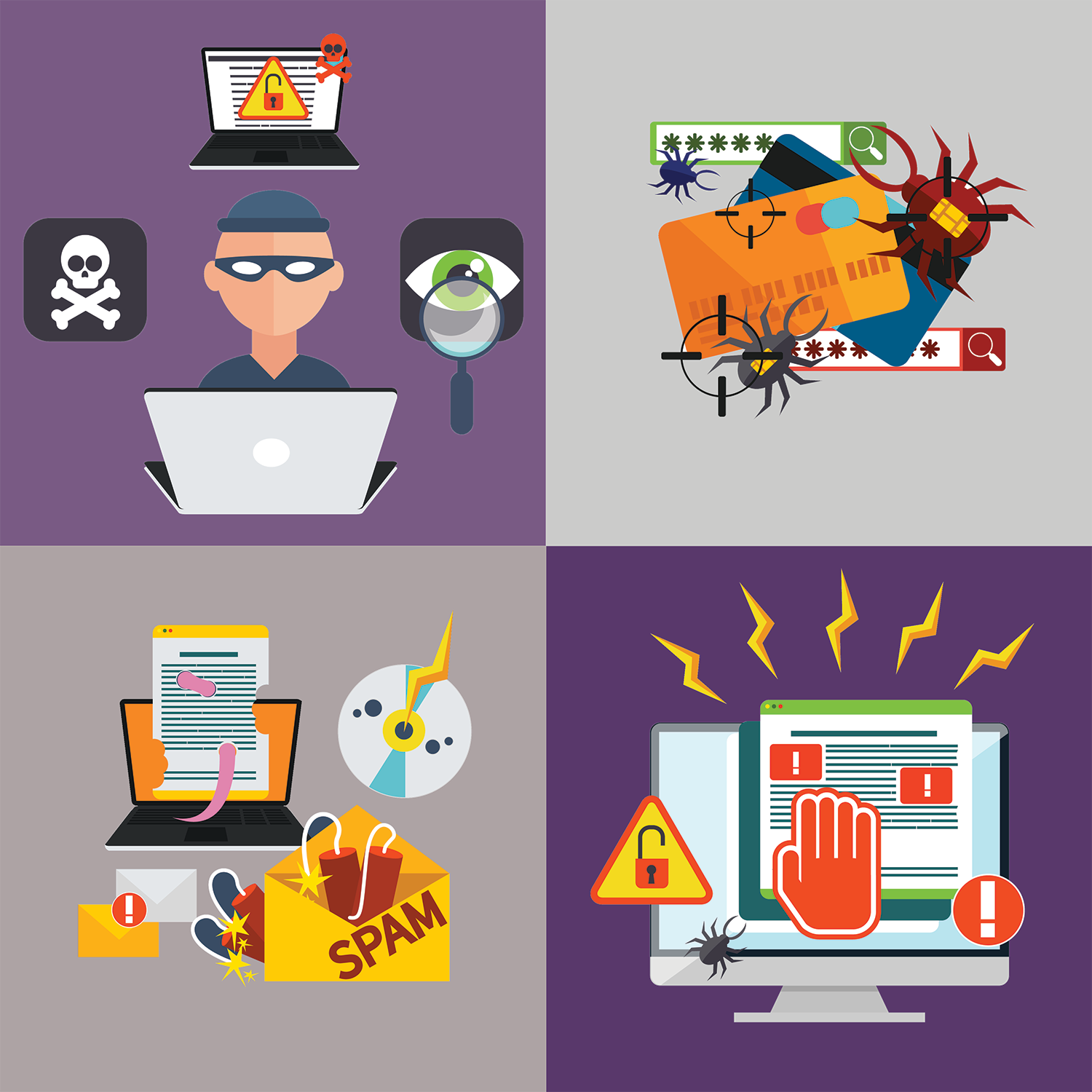Examine ourselves realistically and find our flaws clipart png freeuse library 10 Cyber Security Threats In 2017   Purple Griffon png freeuse library