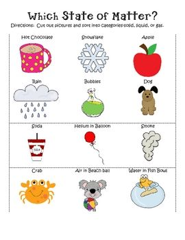 Examples of gas clipart graphic freeuse States of Matter Unit: Solid, Liquid, Gas | Experiment, Solid ... graphic freeuse