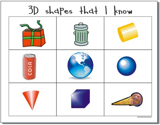 Examples of solid objects clipart clip freeuse library 10 Activities for Describing 3D Shapes in Kindergarten ... clip freeuse library