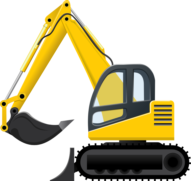 Machinery clipart free vector black and white stock Excavator Clipart | Free download best Excavator Clipart on ... vector black and white stock