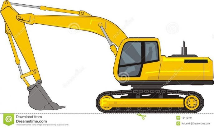 Excavator bucket clipart clipart black and white download Cat Excavator Clipart | Free download best Cat Excavator Clipart on ... clipart black and white download