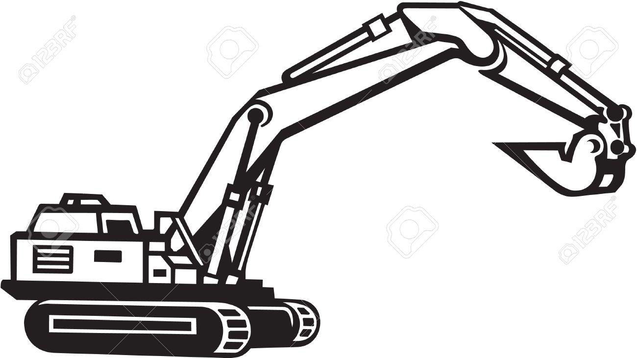 Excavator bucket clipart svg black and white Backhoe clipart excavator bucket, Backhoe excavator bucket ... svg black and white