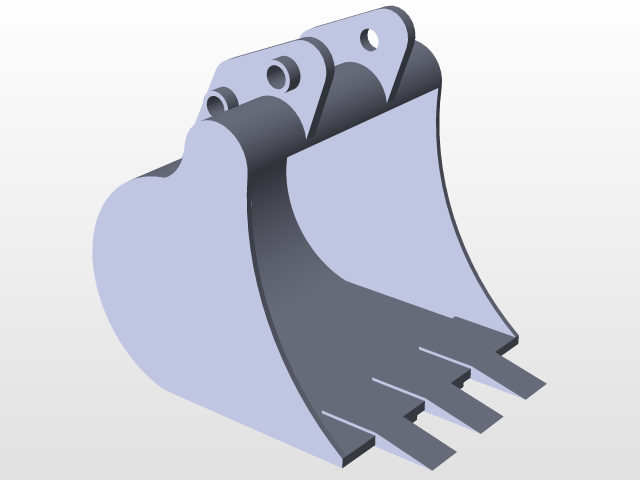 Excavator bucket clipart jpg free Mini Excavator Bucket | 3D CAD Model Library | GrabCAD jpg free