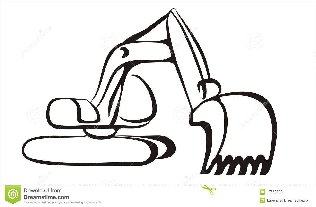 Excavator bucket clipart svg library library excavator free clipart black and white | Excavator Icon In Simple ... svg library library