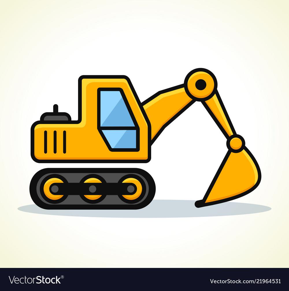 Excavator clipart clip art free stock Excavator design vector image clip art free stock