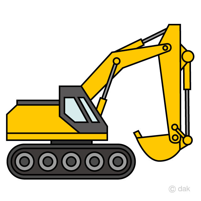 Excavator clipart graphic free Simple Excavator Clipart Free Picture|Illustoon graphic free