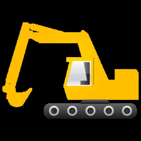 Excavator clipart vector download Excavator 256 image - vector clip art online, royalty free ... vector download