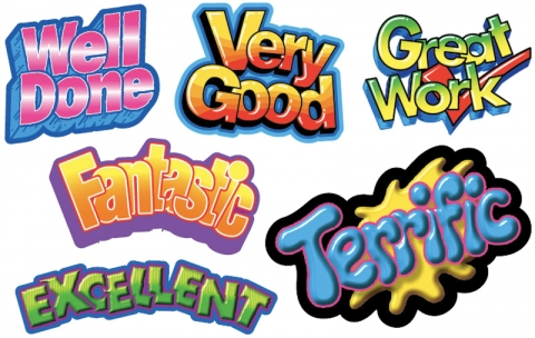 Excellent work clipart image freeuse library Merit Stickers Great Work/Very Good/Excellent/Fantastic/Terrific/Well Done  Shapes Pack 120 image freeuse library