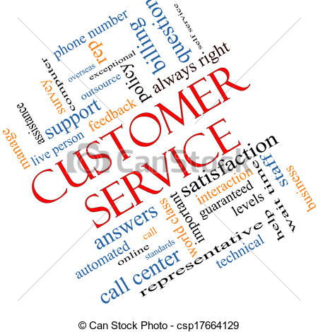 Clip Art of Customer Service Word Cloud Concept Angled - Customer ... graphic royalty free stock