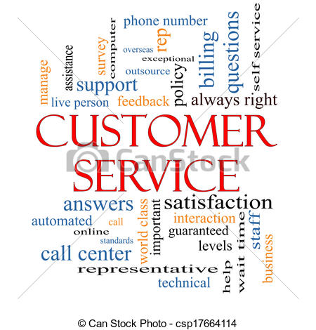 Clipart of Customer Service Word Cloud Concept with great terms ... clipart black and white
