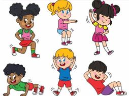 Workout kids clipart graphic free library Kids Exercising Exercises Workout graphic free library