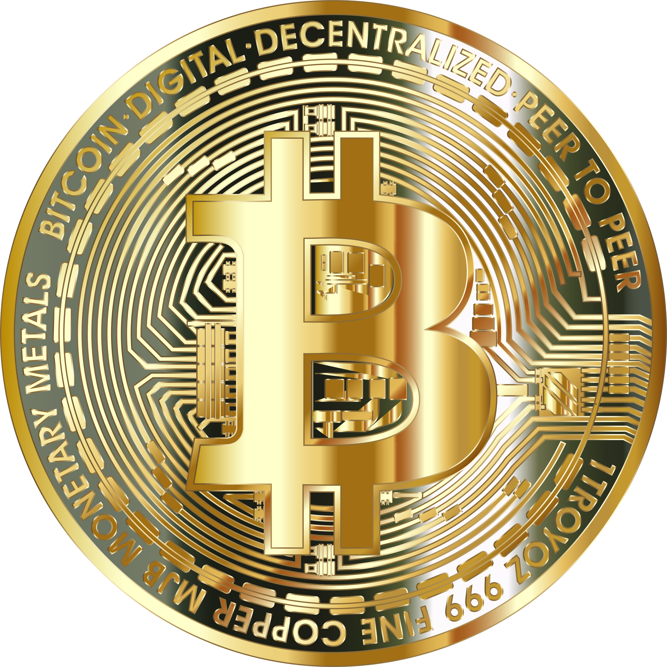 Exchanigng money for gold clipart graphic Clipart - Gold Bitcoin Coin graphic