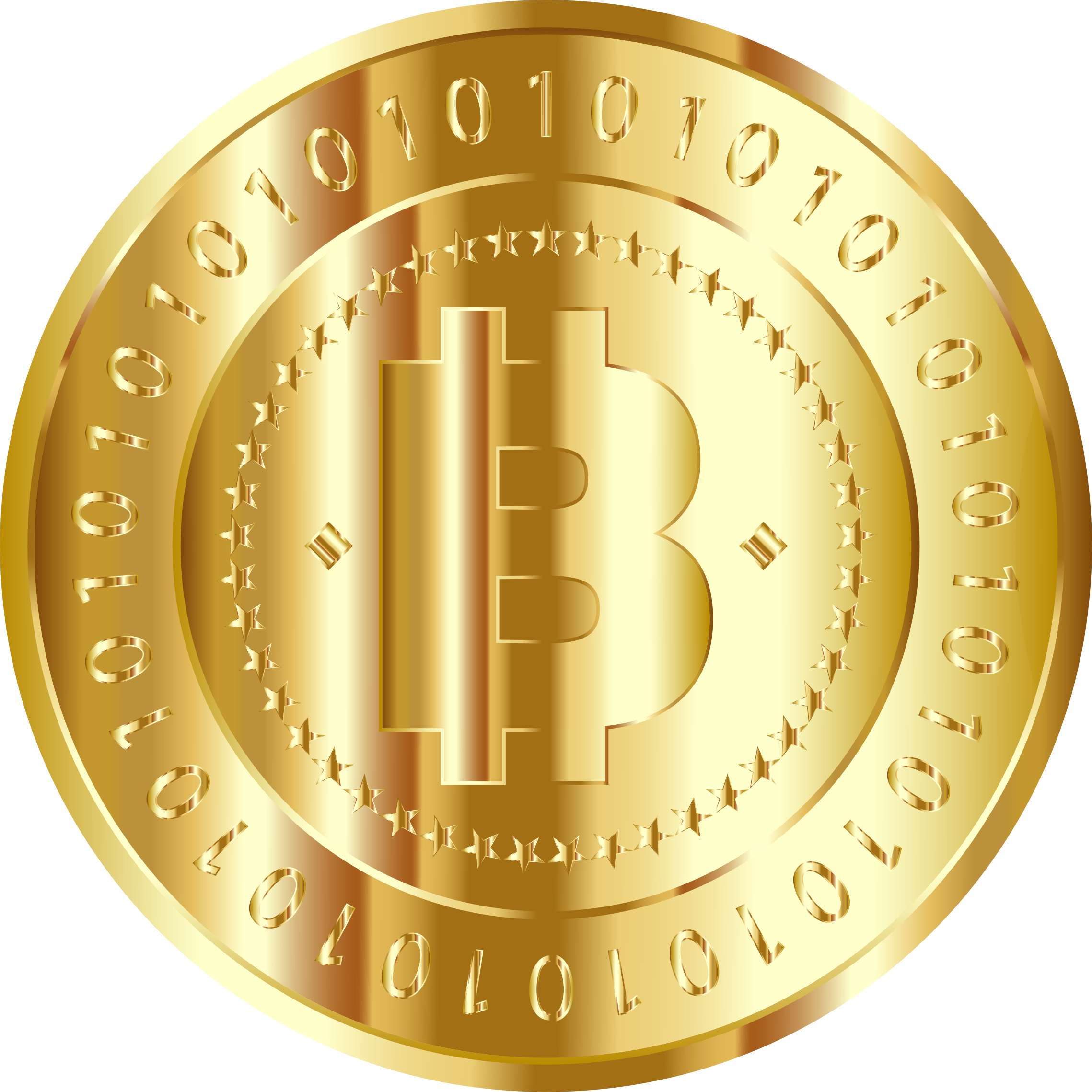 Exchanigng money for gold clipart jpg freeuse Clipart - Gold Bitcoin jpg freeuse