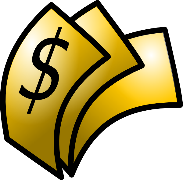 Exchanigng money for gold clipart png library Gold Theme Money Dollars Clip Art at Clker.com - vector clip art ... png library