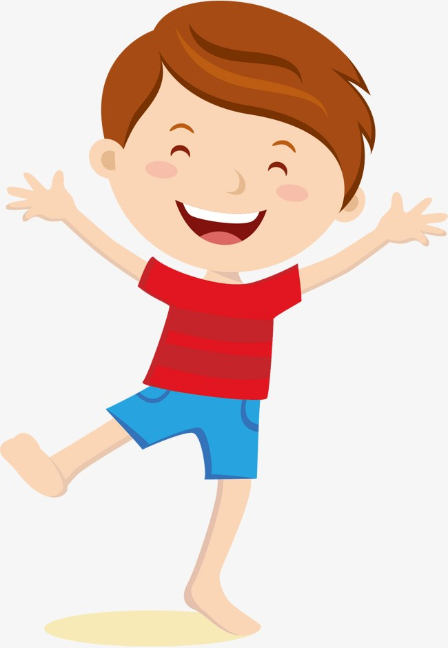 Excited kid clipart clip black and white Excited boy clipart 5 » Clipart Portal clip black and white