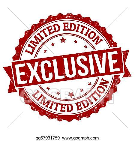 Exclusive clipart banner download Vector Clipart - Exclusive, limited edition stamp. Vector ... banner download