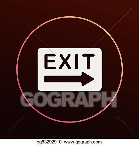 Exit icon clipart graphic free library Vector Stock - Exit icon. Clipart Illustration gg83292910 - GoGraph graphic free library