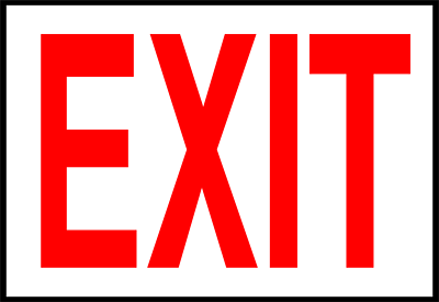 Exit image clipart clip art library download Exit Sign Free Clipart   Clipart Panda - Free Clipart Images clip art library download