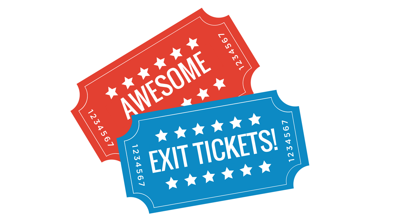 Exit ticket clipart clipart free Make Awesome Exit Tickets with Digital Breakouts – Sustainable Teaching clipart free