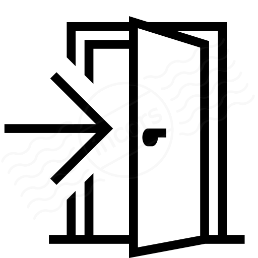 Exiting door clipart png library IconExperience » I-Collection » Door Exit Icon png library