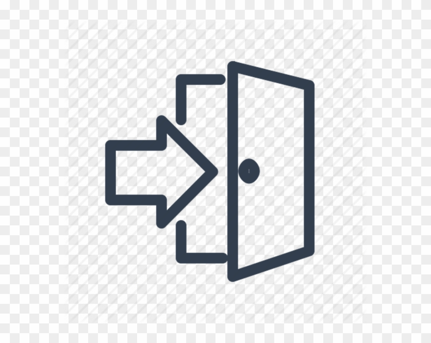 Exiting door clipart picture free download Open Exit Door - Open Door With Arrow Clipart (#1439540) - PinClipart picture free download