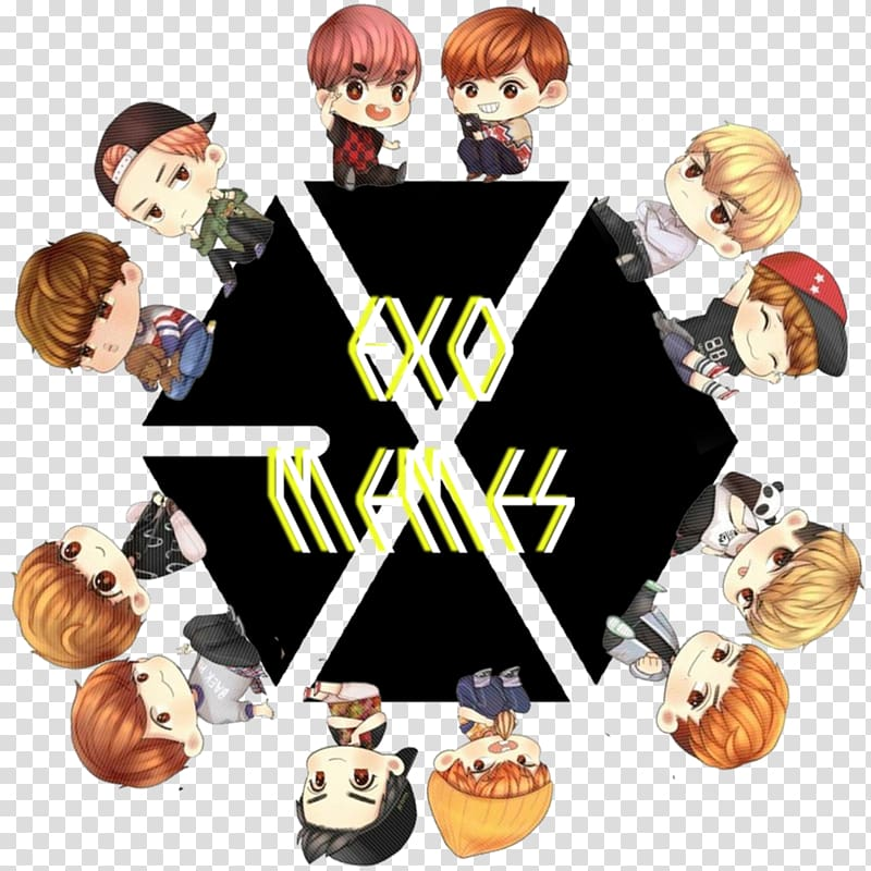 Exo clipart graphic library stock EXO K-pop Logo , Exo Chibi transparent background PNG clipart ... graphic library stock