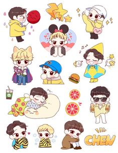 Exo stickers clipart clipart freeuse 578 Best exo stickers images in 2019 | Exo stickers, Sketches, Drawings clipart freeuse
