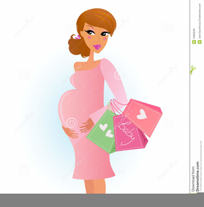 Expectant mother clipart