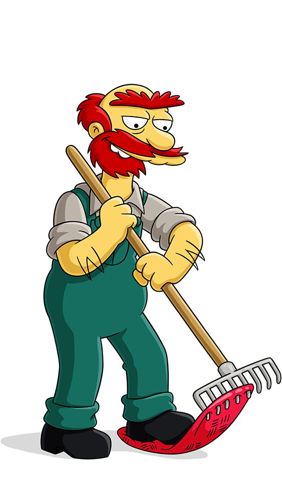 Expelled from school clipart vector black and white stock Groundskeeper Willie | Simpsons World on FXX vector black and white stock