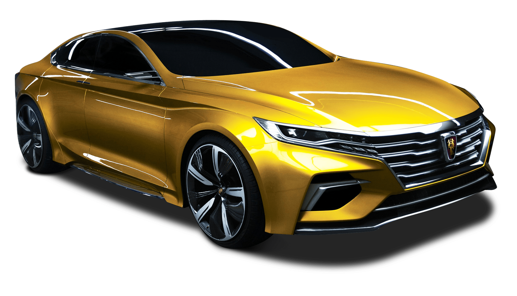 Luxury car clipart png free download Roewe Vision R Yellow Gold transparent PNG - StickPNG png free download