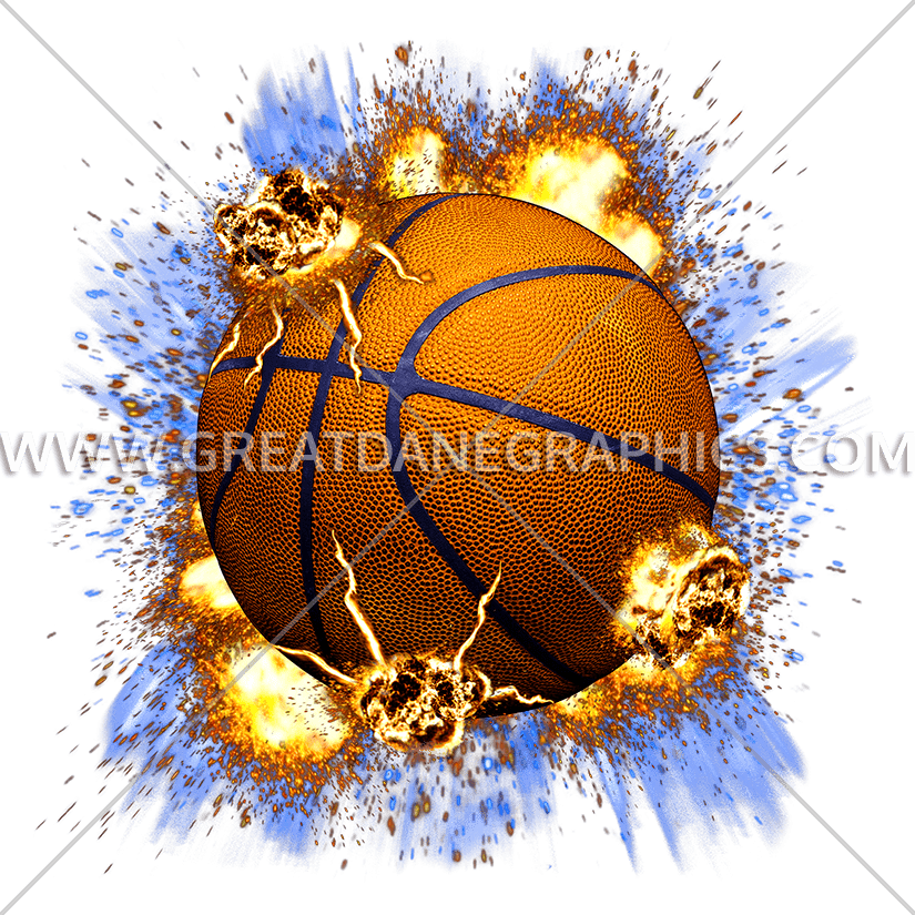 Exploding basketball clipart graphic transparent Explosive Basketball | Production Ready Artwork for T-Shirt Printing graphic transparent