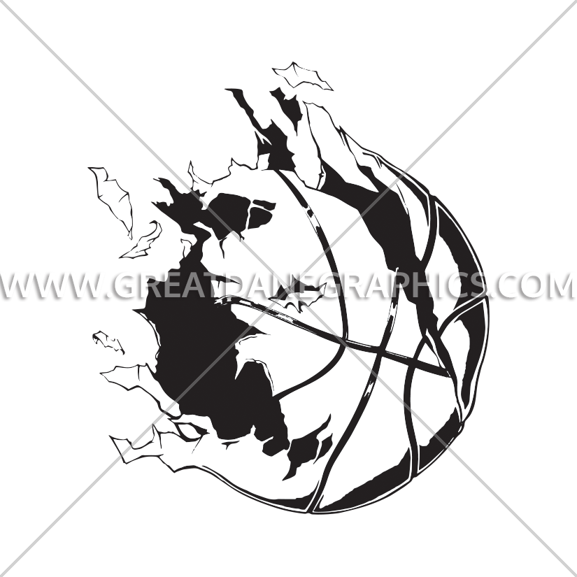 Exploding basketball clipart clipart freeuse download Basketball Exploding Ball | Production Ready Artwork for T-Shirt ... clipart freeuse download