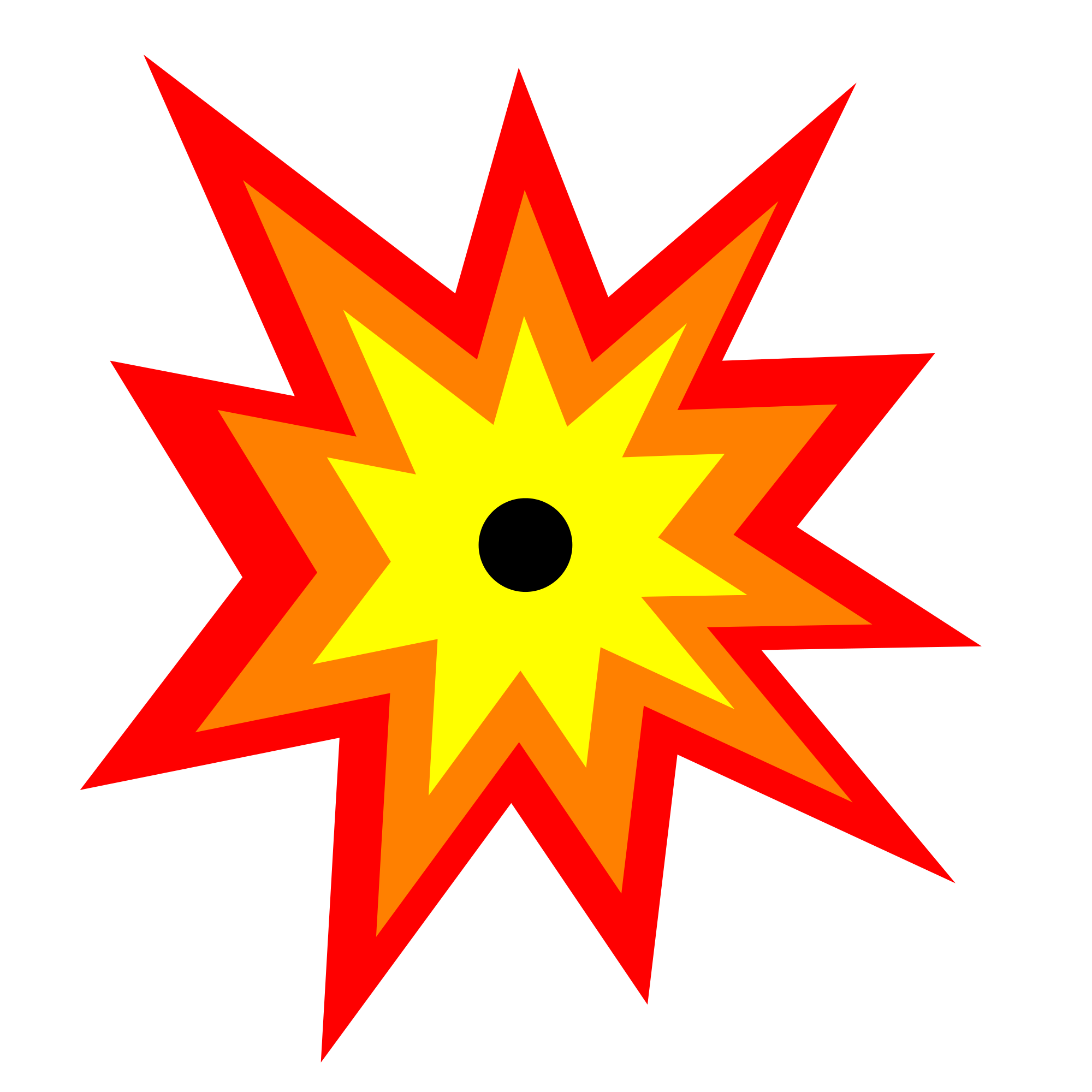 File explosion icon svg. Exploding star clipart