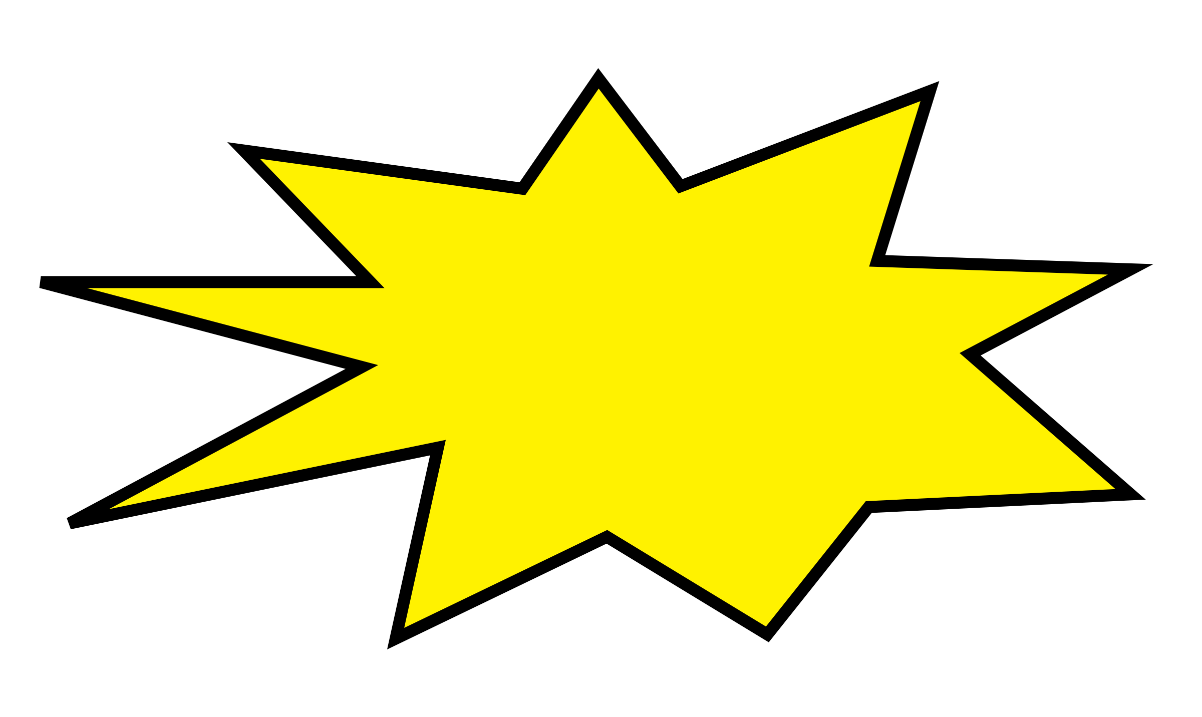 Exploding star clipart.  collection of explosion