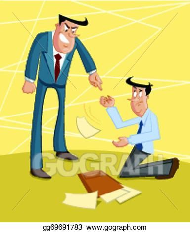 Exploitation clipart free library Vector Stock - Boss yelling on subordinat. Clipart Illustration ... free library