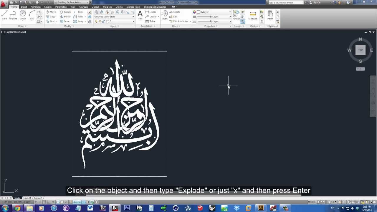 Export clipart autocad clip art freeuse download How To Transform an Image into Lines to AutoCAD Using Illustrator  (Tutorial) - HD clip art freeuse download