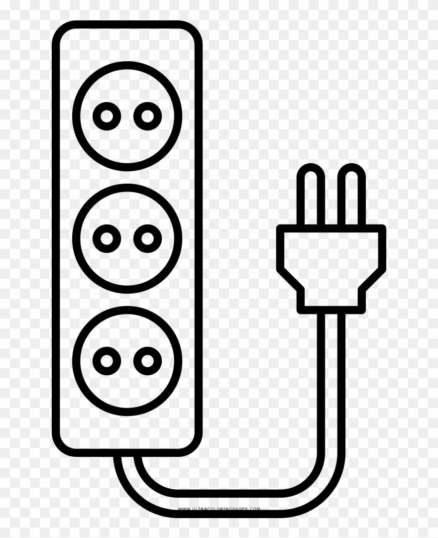 Extension clipart definition svg freeuse Extension Cord Coloring Page Clipart (#2474780) - PinClipart svg freeuse